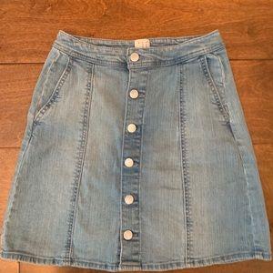 Women's button down Jean skirt